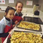kids making roast oca